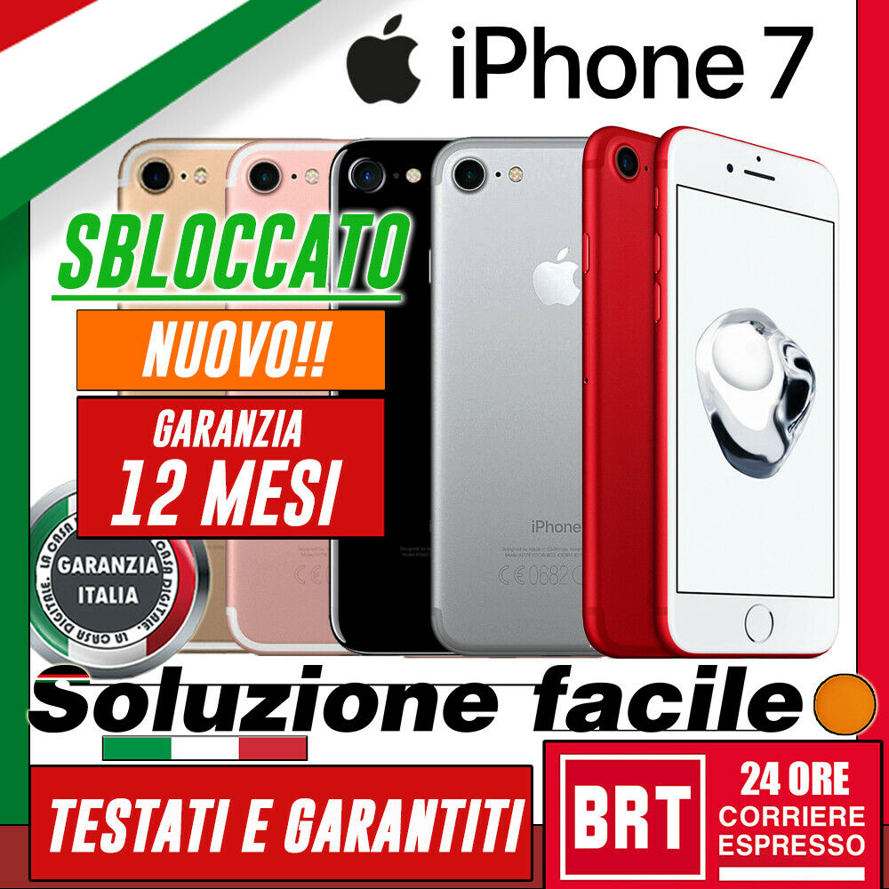 iPhone: NUOVO! SMARTPHONE APPLE IPHONE 7 32GB 128GB 256GB SBLOCCATO+GARANZIA ITA 24 MESI