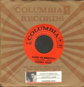 Cash-Johnny-Going-To-Memphis-Vinyl-45-rpm-record-Free-Shipping