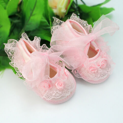 Princess Anti-Slip Newborn Baby Toddler Girl Shoes With Beautiful Lace 0-3 Month