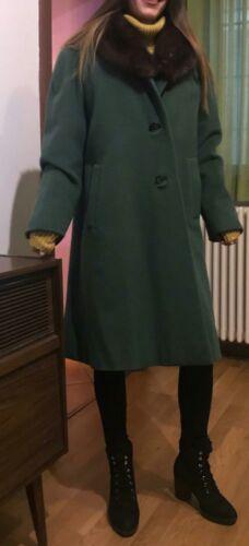 Cortina Cappotto Pura Visone Collo In Con Lana Moessmer Vintage Alpaca 4fwT6wgq