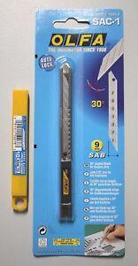 OLFA SAC-1 Edelstahl Cutter-Messer +10 OLFA SAB-10 30° Klingen Sparset, Wrapping