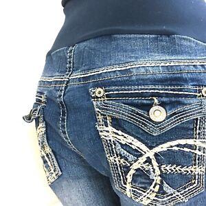 For Sz In Crop ritagliata Caviglia Capri Wallflower Pod Jeans Maternity L Pea A The CI5qwO78x