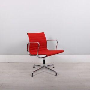 vitra charles eames ea108 chair red hopsack alu ebay. Black Bedroom Furniture Sets. Home Design Ideas