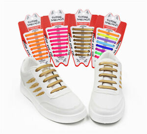 Lazy-No-Tie-Elastic-Silicone-Shoe-Laces-Shoelaces-1-Set-16pcs-Unisex-Man-Woman