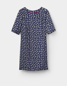 JOULES Dana Short Linen Viscose Dress Sz 10 16 RRP£69.95 Free UK P/&P