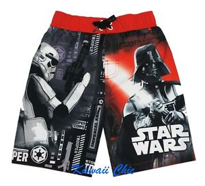 596eb01fbb Disney Star Wars Storm Trooper Darth Vader Swim Shorts Trunks Little ...
