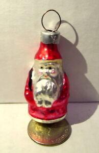 Santa-Claus-Glass-Ornament-miniature-vintage