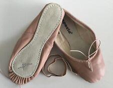Capezio Teknik #200X Pink Leather Ballet Slippers Size Toddler 7.5 E 6.5E