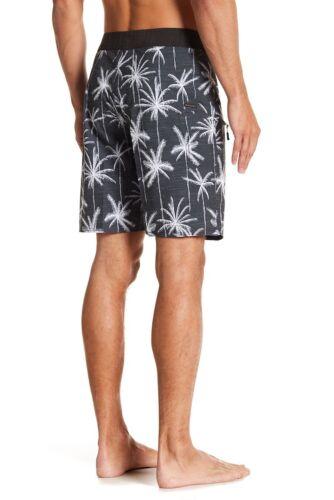 "Men/'s Rip Curl 32 Mirage Palm Trip Hawaii Board Shorts Black White 20/"" Length"