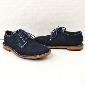 Cole-Haan-Grand-OS-Men-039-s-Size-7-5-Grover-Oxford-Denim-Blue-Shoes-C14336