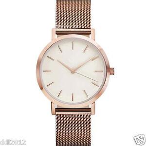 Classic-Women-039-s-Men-039-s-Wrist-Watch-Stainless-Steel-Mesh-Band-Analog-Quartz-Watch
