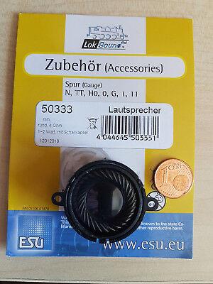 15,1mm dick 4 Ohm ESU 50333 Lautsprecher m.Schallkapsel 28mm rund 1-2W  *NEU*