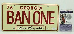 Burt-Reynolds-Signed-Smokey-And-The-Bandit-039-Ban-One-039-License-Plate-JSA-V97559
