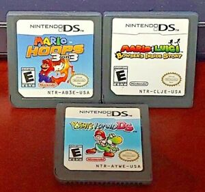 Mario-Luigi-Inside-Story-Mario-Hoops-Yoshi-039-s-Story-Nintendo-DS-DS-Lite-3DS-2DS