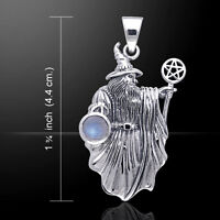 Wizard With Pentacle Pendant Gemstone .925 Sterling Silver Pendant Peter Stone