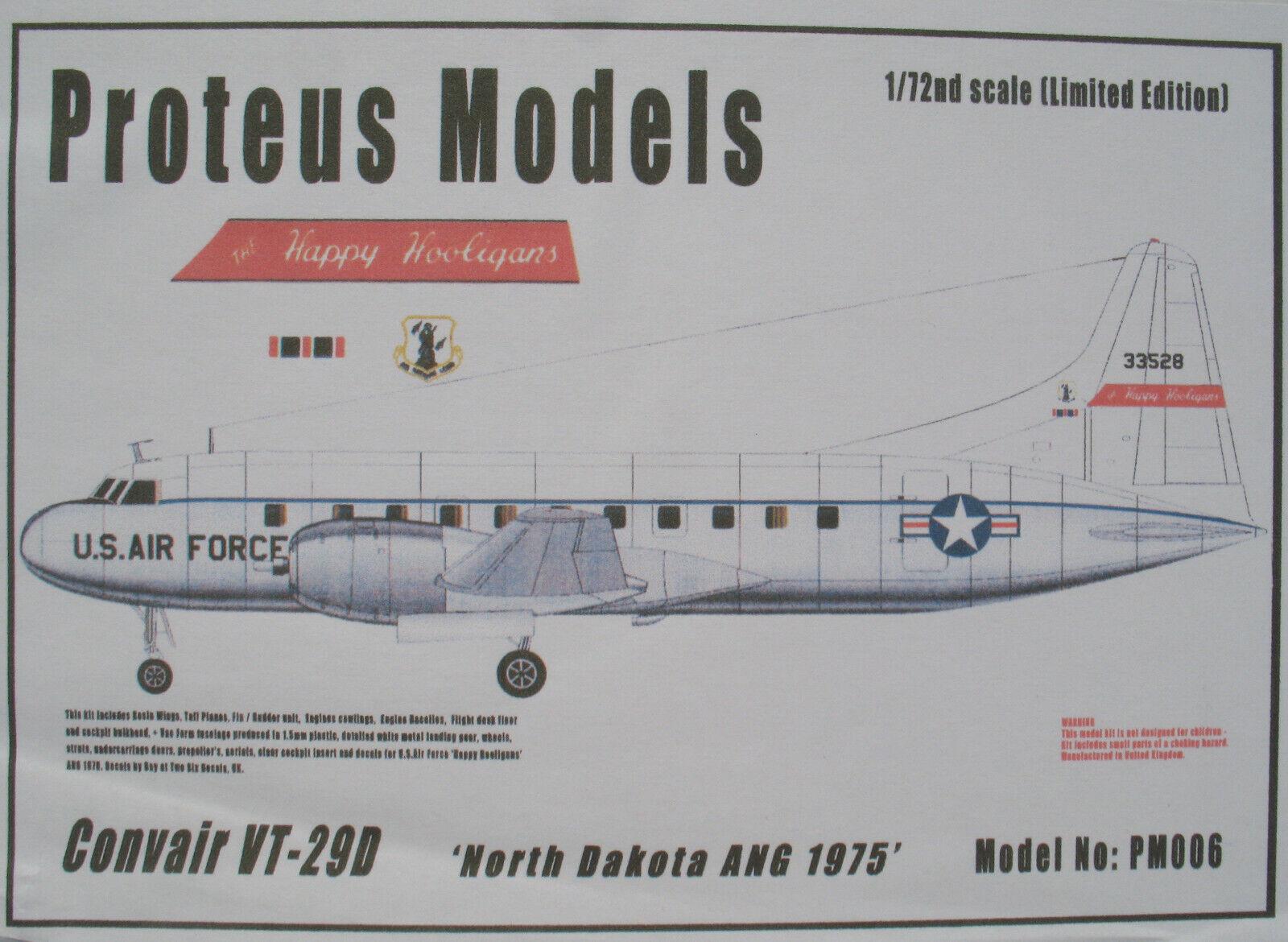 PROTEUS MODELS PM006 - Convair VT-29D US AIR FORCE  Happy Hooligans  - 1 72 Kit