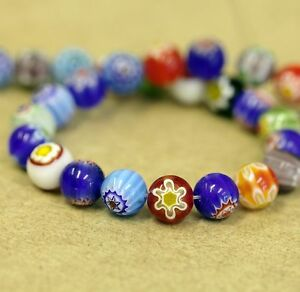 Glass-Millefiori-Beads-Various-Sizes