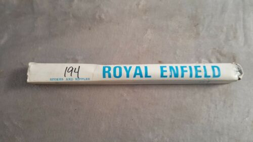 OLD SCHOOL BMX ROYAL ENFIELD 12 G 194mm 7 5//8 CHROME STEEL SPOKES HEAVY DUTY NIB