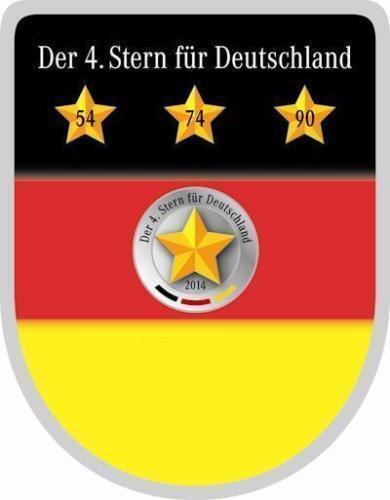 Fußball-Trikots 20 Stück Nationalmannschaften Der 4 Stern für Deutschland 2014.Ansteckpin,Metall