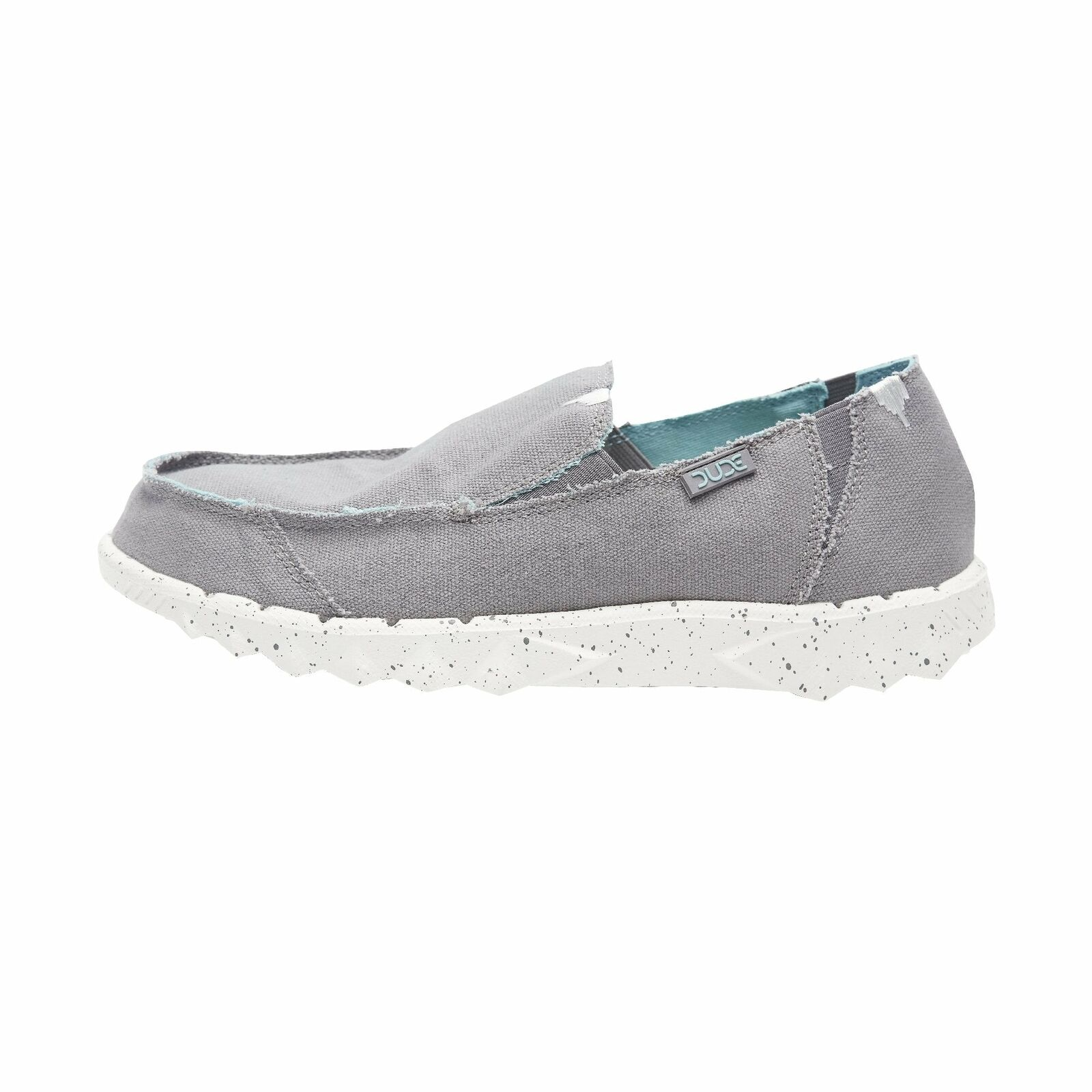 Hey Dude shoes Mens Farty Funk Grey Sky Canvas Slip On Mule