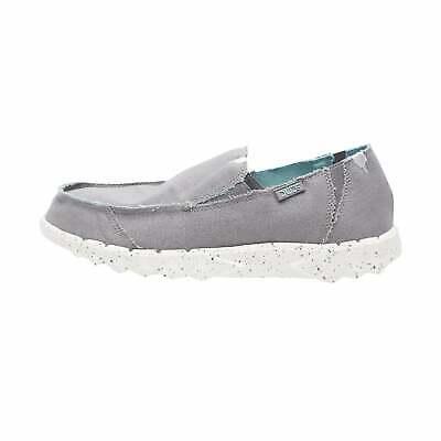Kompetent Hey Dude Shoes Mens Farty Funk Grey Sky Canvas Slip On Mule Wohltuend FüR Das Sperma