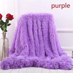 New-Super-Soft-Shaggy-Faux-Fur-Blanket-Ultra-Plush-Decorative-Blanket