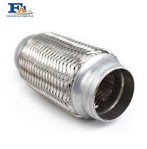 Flexi Pipe Flex Joint Exhaust 76mm X 150mm Flexipipe Tube Cat Repair 2.5 X 6