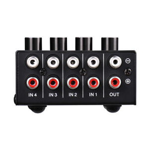 4in-1out-Mini-4-channel-Stereo-Passive-Mixer-RCA-Lossless-Audio-for-Live-amp-Studio