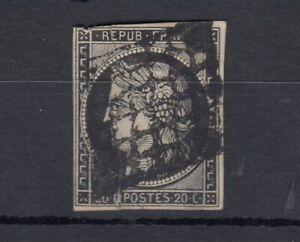 France-1850-20c-Ceres-Imperf-Good-Margins-SG9-Used-J4459