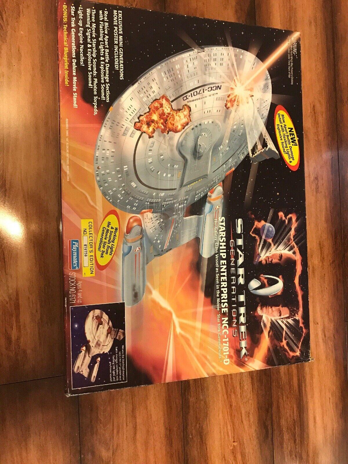 1994 estrella TREK GENERATIONS  ENTERPRISE NCC1701D PLAYMATES w blast panels