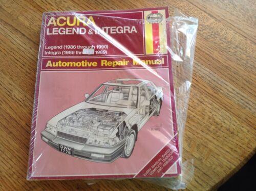 1986-1990 New Acura Legend Automotive Repair Manual Haynes 1986-1989 Integra