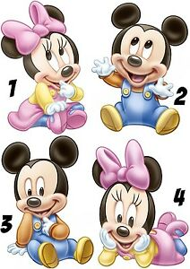 MICKEY-MOUSE-STICKER-AUTOCOLLANT-OU-TRANSFERT-TEXTILE-VETEMENT-T-SHIRT-BEBE