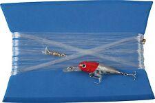 lenza pronta per la pesca traina costiera spigola minnow artificiale testa rossa