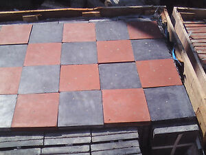 6-034-x-6-034-New-Antique-Red-and-black-Quarry-floor-tiles
