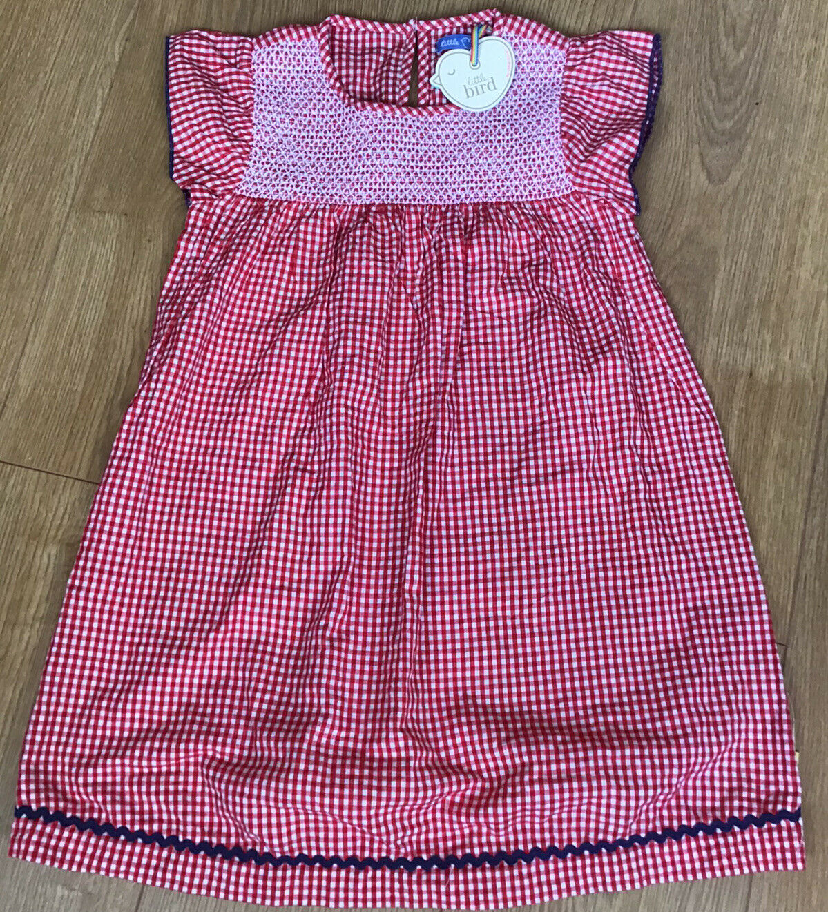 Little Bird By Jools Oliver Red Towelling Rainbow Dress 6 7 Years For Sale Ebay
