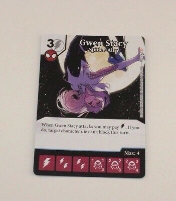 GWEN STACY OP Promo Prize Card Marvel Dice Masters Amazing Spider-Man