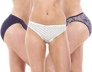 Ladies 5 Pack High Leg No VPL Briefs Knickers Womens Underwear ... 2cacfba5d