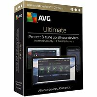Avg Ultimate 2017 - Unlimited Devices / 2 Years For Windows/macs/android ✔new✔