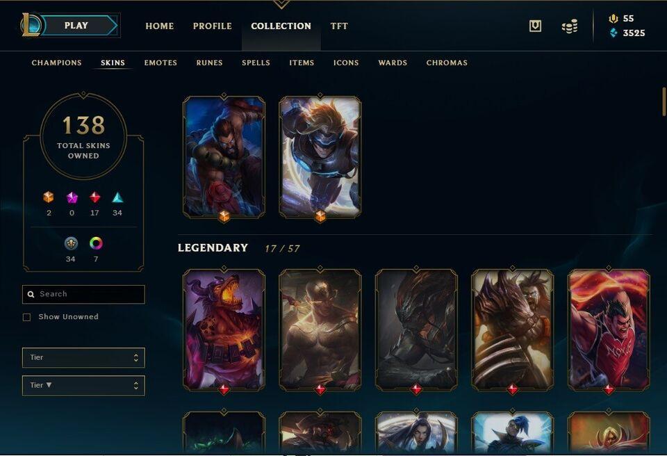 League of Legends Account, adventure