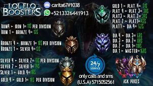 SAFE league of leyends elo boosting any region.on 24/7..