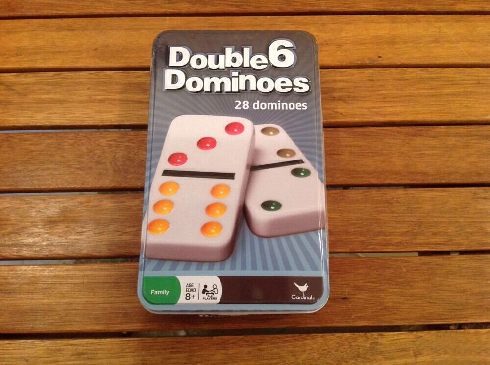 DOUBLE 6 DOMINOES 28  DOMINOES SET NEW CLASSIC GAME COLOROT DOTS  28 DOMINOE GAME 6d8e5b