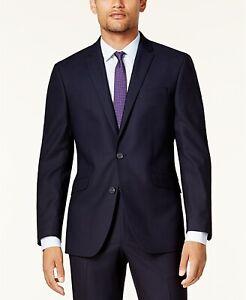 b50558689e1f Kenneth Cole Reaction Men's Navy Blue Slim-Fit Suit Jacket Blazer ...