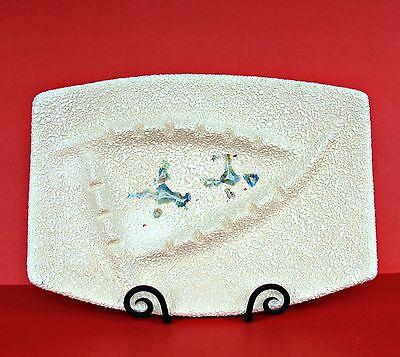 "Mid Century Modern Atomic Ashtray Vintage Large 15"" Retro Ceramic Centerpiece ✔"