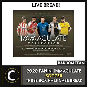 2020 PANINI IMMACULATE SOCCER 3 BOX (HALF CASE) BREAK #S120 - RANDOM TEAMS -