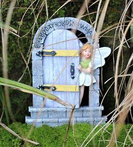Garden-Ornament-Fairy-Door-Magical-Secret-Enchanted-Mushroom-Hobbit-Cherub