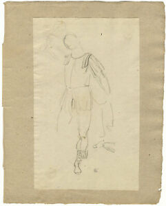 William Lock the Younger, Classical Soldier with Raised Sword – c.1780 drawing