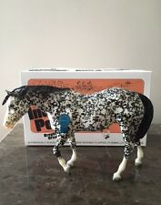 "BREYER VINTAGE CLUB ""ISABELLE"" INDIAN PONY DAPPLE BLACK W/BOX"
