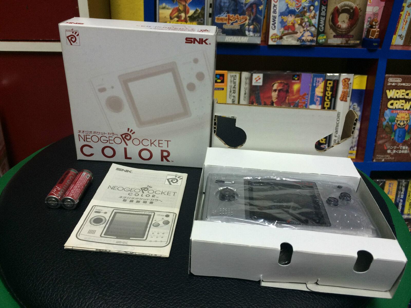 SNK NEOGEO Pocket Color Plata Japón menta muy completa