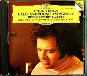 PERLMAN-BARENBOIM-LALO-Symphonie-Espagnole-BERLIOZ-Reverie-et-Caprice-CD-Itzhak
