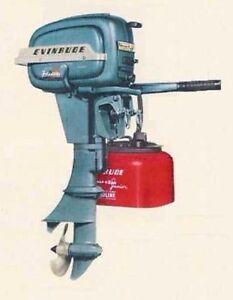 Antique Vtg Johnson Evinrude Omc Gale Outboard Motor